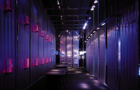 LFF Messestand LED Lichtobjekt