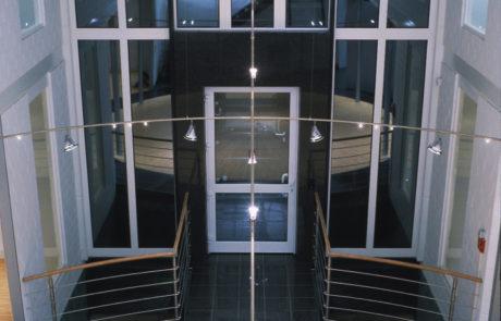 Eingangshalle einer Stoffdesignfirma in Krefeld